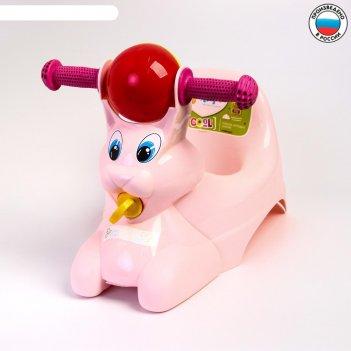 Горшок-игрушка зайчик, цвет розовый
