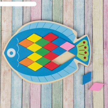 Мозаика-головоломка «рыбка», ромб: 4 x 2,2 см