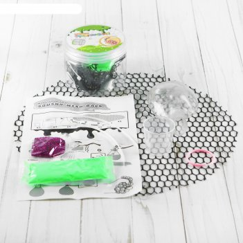 Набор для опытов мялка в сетке с блестками, цвет зеленый