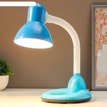Лампа настольная 16112/1bl e27 40вт голубой 14,5х16,5х42 см