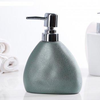 Дозатор для жидкого мыла мужской, цвет металлик