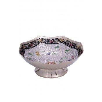 Конфетница латунь белая цветная эмаль 5 (13 см)
