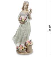 Jp-22/26 статуэтка девушка с цветами (pavone)