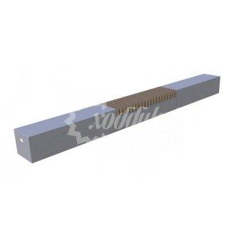 Скамья бетонная «сколково» блок бетон-дерево