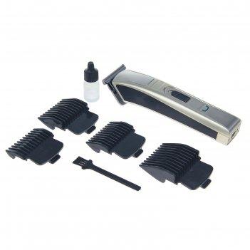 Машинка для стрижки волос luazon lst-04, акб 600 mah, насадки -3, 6, 9,12