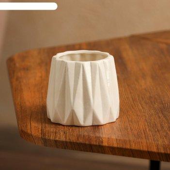 Кашпо оригами №2, белое