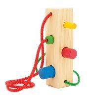 Игрушка шнуровка-сортер брусочек