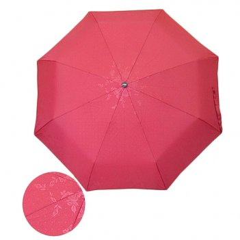 Зонт 23, полный автомат, (темно-красный с глянцевым рисунко...