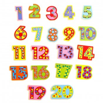 Магниты развивающие учимся считать, набор 20 шт