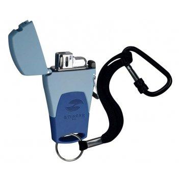 Зажигалка stinger газовая mira, голубой, 41x16x78 мм