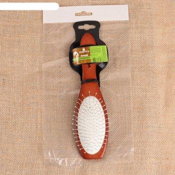 Расчёска массажная  vortex «овал», с металлическими зубчиками