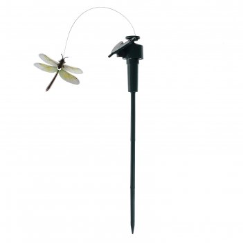 Летающая стрекоза во круг цветка