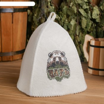 Банная шапка с термопечатью царь(медведь)