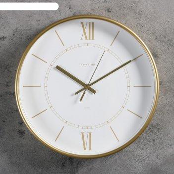 Часы настенные, серия: интерьер эдит d=30.5 см, золото