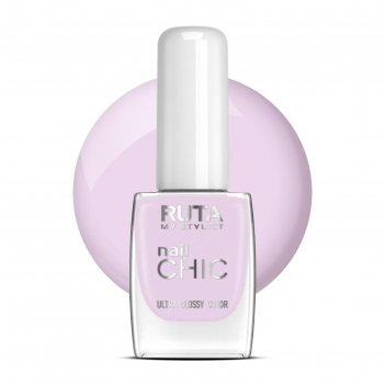 Лак для ногтей ruta nail chic, тон 108, нежная лаванда