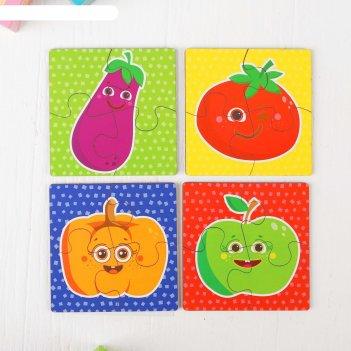 Пазл для малышей фрукты-овощи