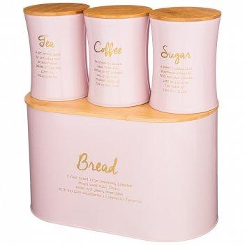 Набор agness   хлебница 2 в 1   34*18*20 см, банка для сыпучих 11*14 см 3