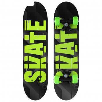 Скейтборд подростковый skate 62х16 см, колёса pvc d=50 мм
