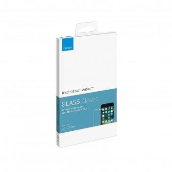 Защитное стекло deppa (62032) iphone 7 plus, прозрачное, 0,3 м