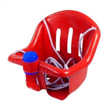 Ор757 качели с барьером безопасности, с клаксоном красные