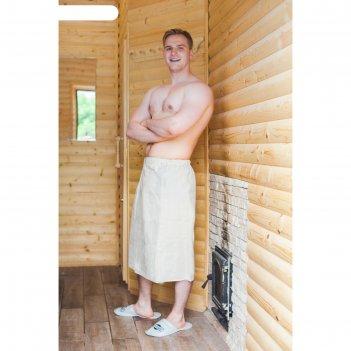 Килт для бани и сауны добропаровъ, мужской, льняной, белый