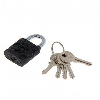 Замок навесной аллюр вс1ч-4503, дужка d=5 мм, 5 ключей