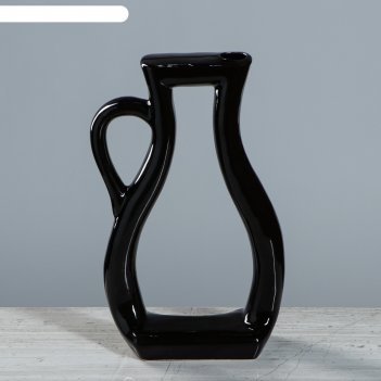 Ваза арт-хаус кувшин, чёрный цвет, 32 см