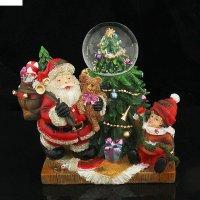 Сувенир снежный шар дед мороз с подарками