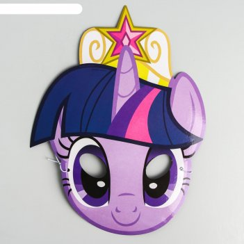 Маска карнавальная искорка, my little pony, 17,2 х 22 см