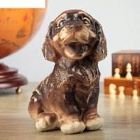 Фигура садовая собака жуля, шамот