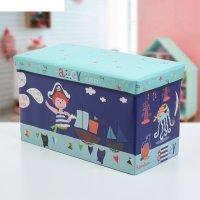 Короб для хранения 60x30x36 см пират, цвет голубой