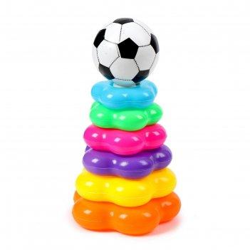 Пирамидка футбольный мяч, 6 колец