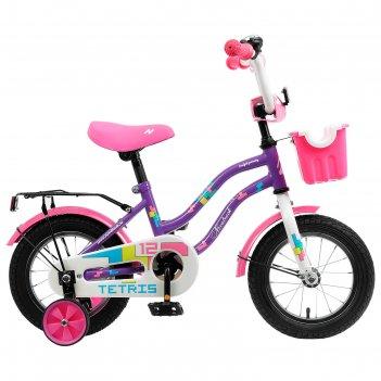Велосипед 12 novatrack tetris, 2020, цвет фиолетовый