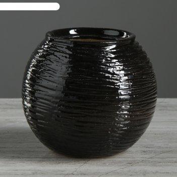Ваза шарик малый №2, черный