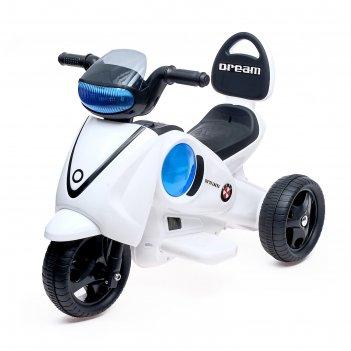 Электромобиль скутер, световые и звуковые эффекты, цвета микс
