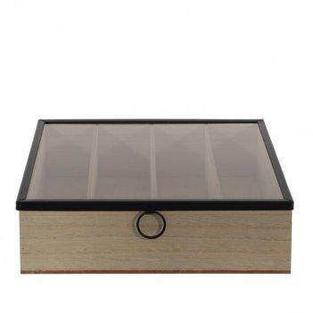 Шкатулка для столовых приборов, l24,2 w24,2 h6,5 см