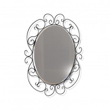 Зеркало навесное грация 630, 580x10x750,черный