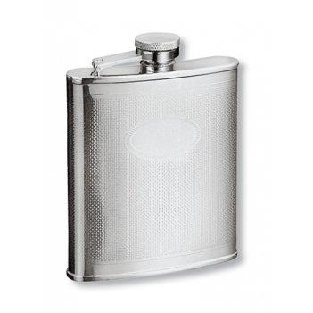 Фляга s.quire 0,18 л, сталь, серебристый цвет с рисунком