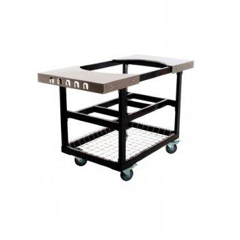 Стол - тележка  со  столешницами из нержавеющей стали  для primo junior дл