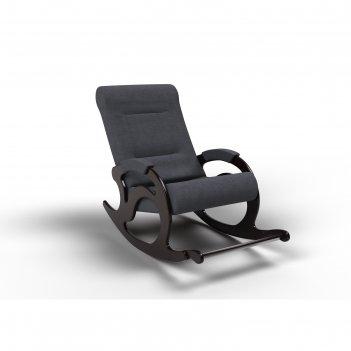 Кресло-качалка «тироль», 1320 x 640 x 900 мм, ткань, цвет графит
