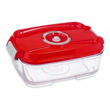 Контейнер вакуумный, объем: 1,4 л, материал: тритан, цвет: красный, серия