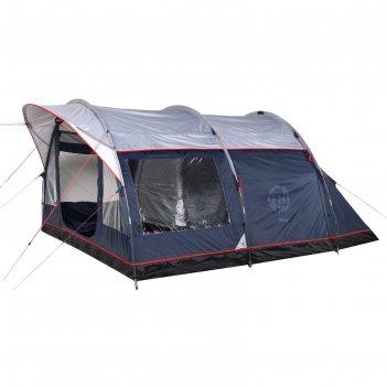 Палатка кемпинговая «libra 4», синий/серый