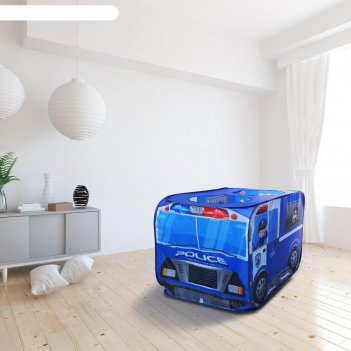Детская игровая палатка полицейская машина 73х73х114 см
