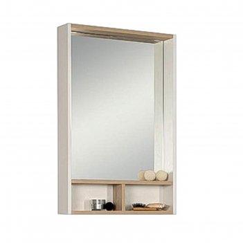 Шкаф-зеркало акватон йорк 55, цвет белый ясень 1a173202yoav0