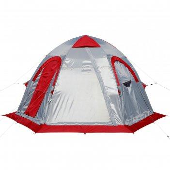 Палатка лотос 5ут шторм (серо-красный), 25017