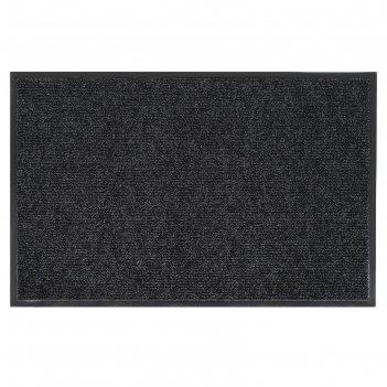 Коврик влаговпитывающий ребристый 60х90 см комфорт цвет черный