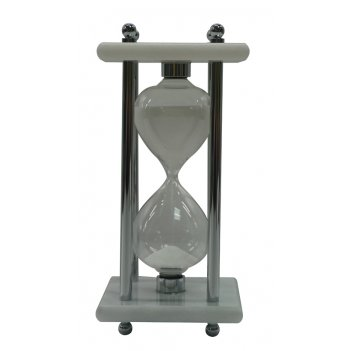Песочные часы, 8см x 8см x 17см, 15 минут, мрамор  . 664w