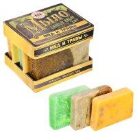 Набор мёд и травы: 3 мыла для бани ручной работы