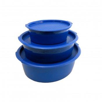 Набор пищевых контейнеров solaris, 3 шт