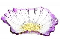 Салатник 280 мм фиолетовый цветок